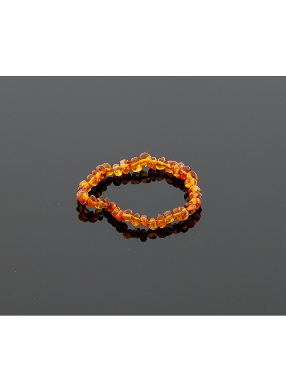 Baby amber bracelet - honey baroque beads