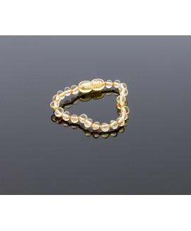 Baby amber bracelet - lemon baroque beads