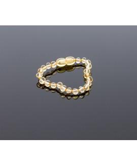 Baby amber bracelet - lemon baroque beads