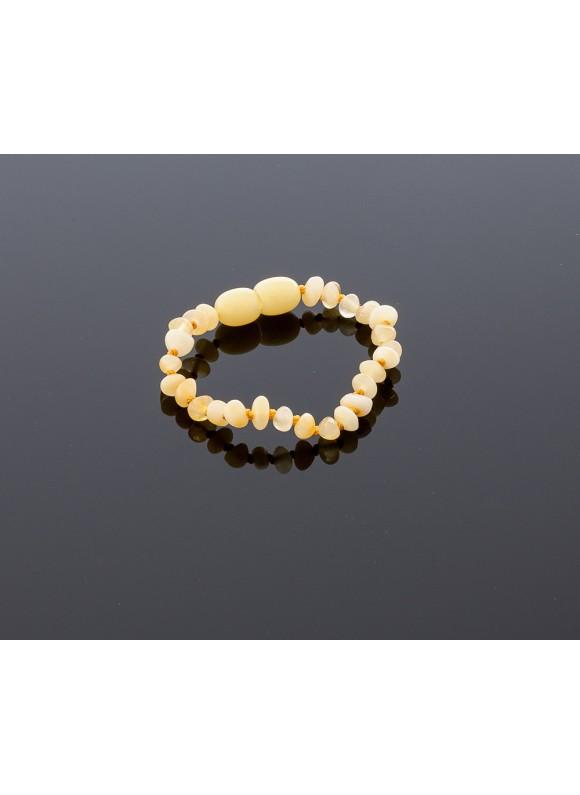 Baby amber bracelet - butterscotch baroque beads