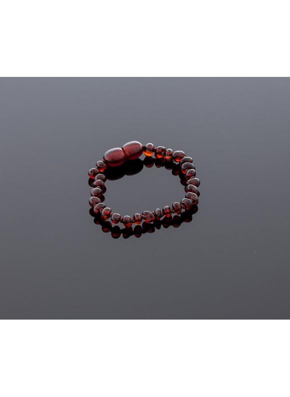 Baby amber bracelet - cherry baroque beads