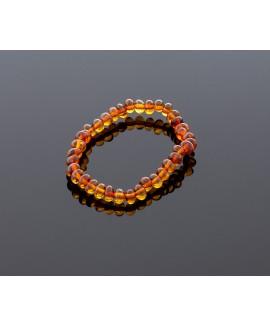 Baby amber bracelet - cognac baroque beads