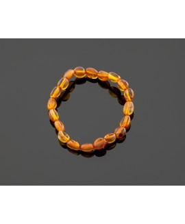 Baby amber bracelet - honey olives