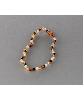 Baby amber necklace - multicolored baroque beads