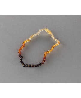 Baby amber necklace - rainbow baroque beads