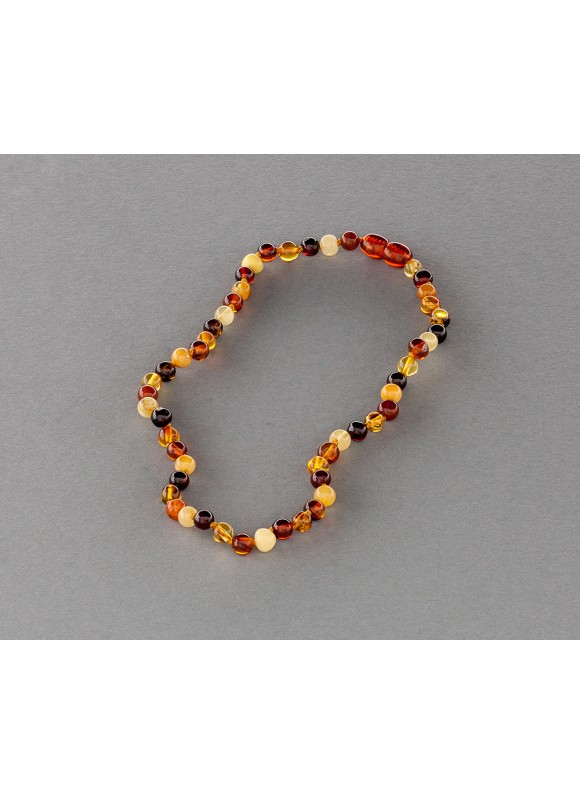 Baby amber necklace - multicolored beads