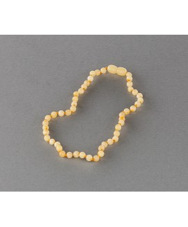 Baby amber necklace -  milky beads