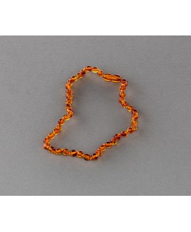 Baby amber necklace - cognac beads