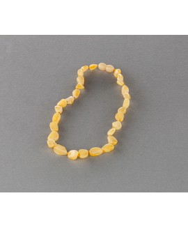 Baby amber necklace - flat butterscotch olives