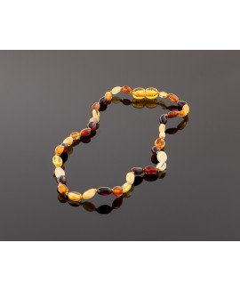 Baby amber necklace - multicolor olive beads