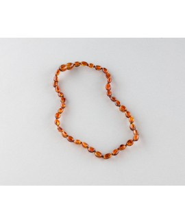 Baby amber necklace - cognac olives