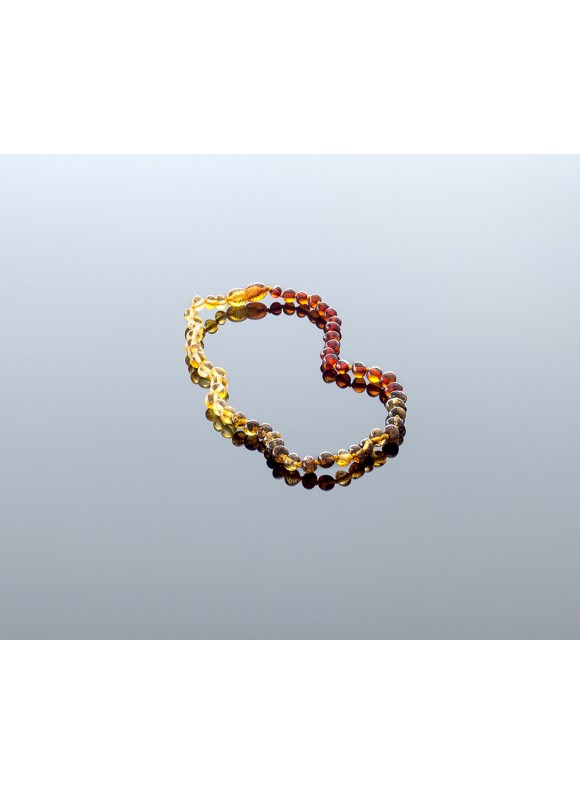Baby amber necklace - baroque beads LT
