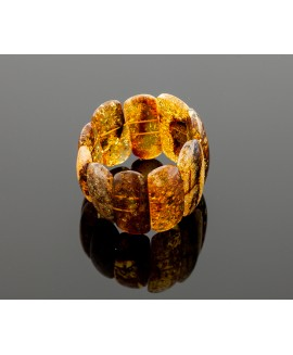 Classical colorful amber bracelet