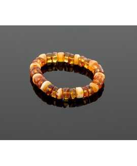 Colorful amber bracelet - Sunny morning