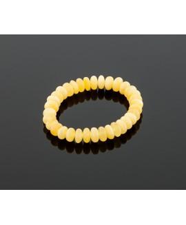 Deluxe white amber bracelet