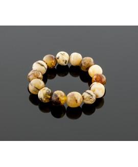 Semi round amber bracelet
