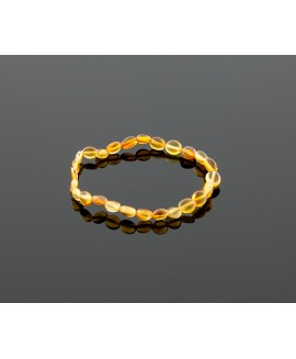 Adult amber bracelet - honey olive beads