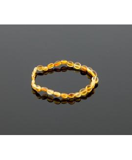 Adult amber bracelet - honey olive beads
