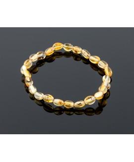 Adult amber bracelet - natural olive beads