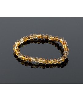 Adult amber bracelet - natural baroque beads