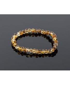Adult amber bracelet - natural baroque beads