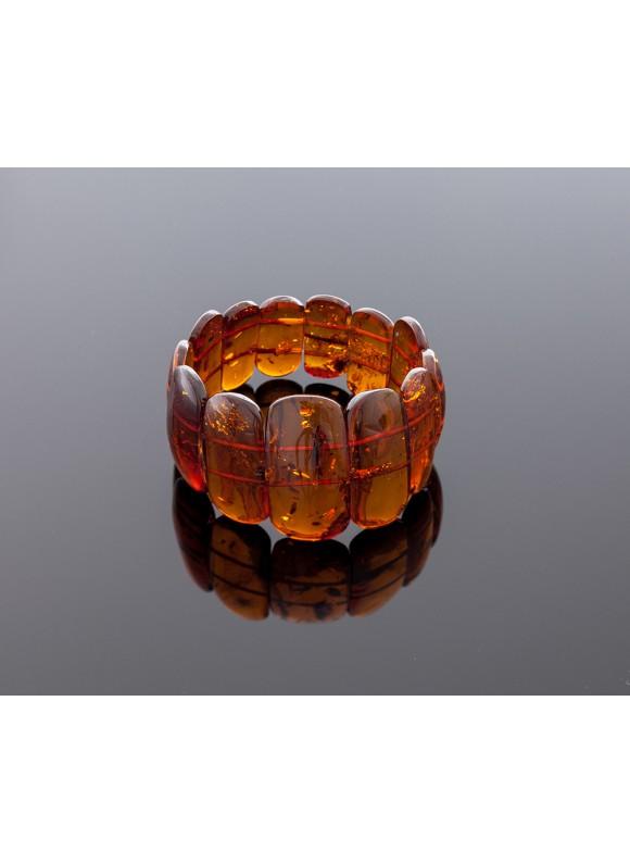 Classical cognac amber bracelet