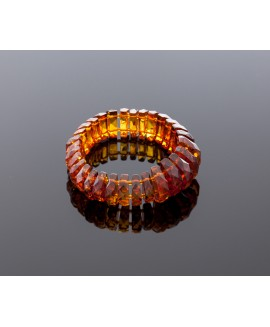 Exclusive faceted amber bracelet