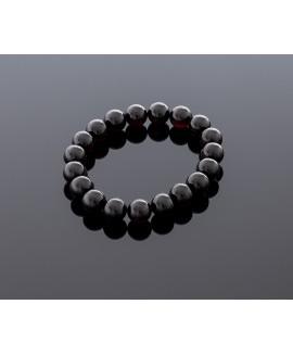 Cherry amber bracelet - Black lady, 10mm