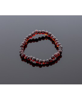 Adult amber bracelet - cherry baroque beads