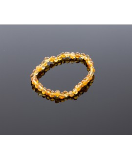 Adult amber bracelet - honey baroque beads