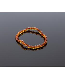 Adult amber bracelet - cognac baroque beads