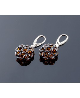 Luxurious faceted amber earrings