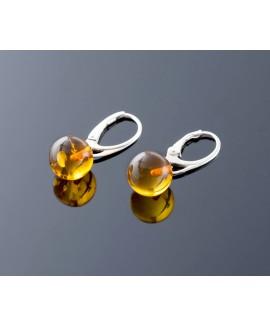 Pure Baltic amber earrings, 11mm