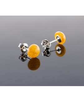 Amber earrings - Bright sun