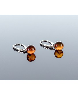 Baltic amber earrings, 8mm