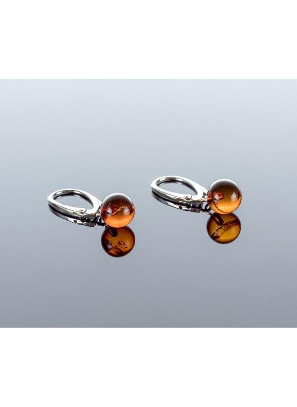 Baltic amber earrings, 8mm