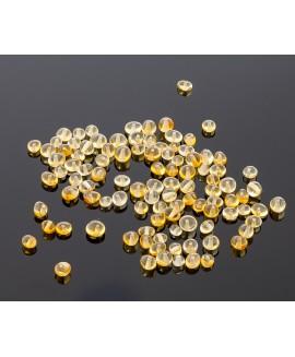 Loose baroque lemon amber beads