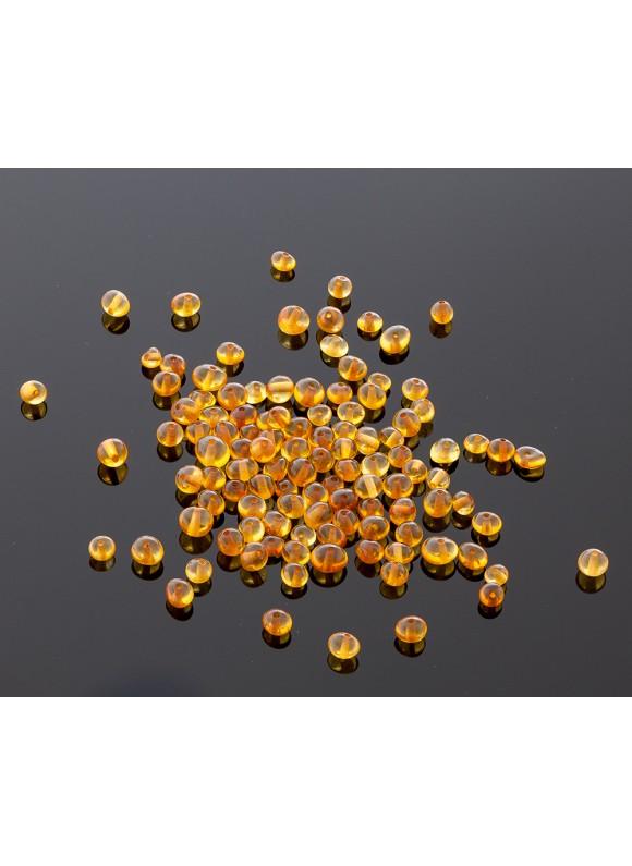 Loose baroque honey amber beads