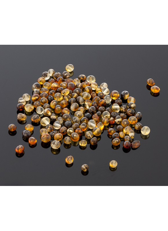 Loose baroque green amber beads