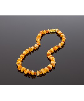 Exclusive colorful amber necklace