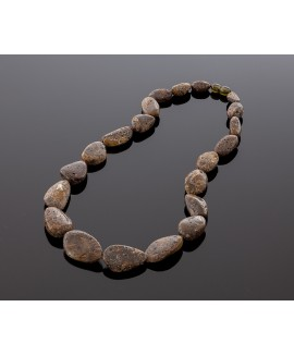 Healing black amber necklace