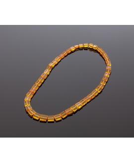 Elegant square amber necklace