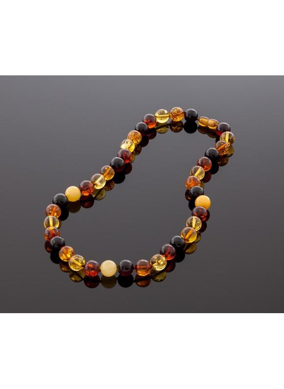 Royal multicolor amber necklace