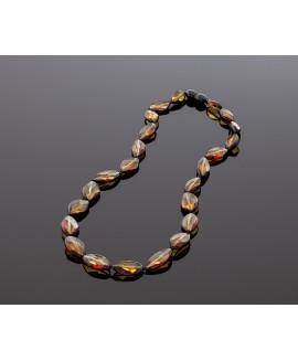 Elegant faceted amber necklace