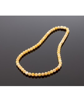 Deluxe round amber necklace, 7mm