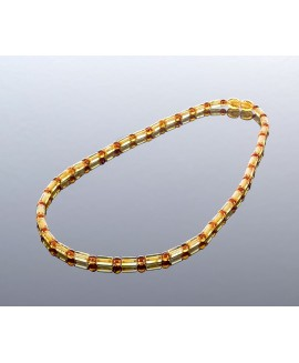 Pure cylinder style amber necklace