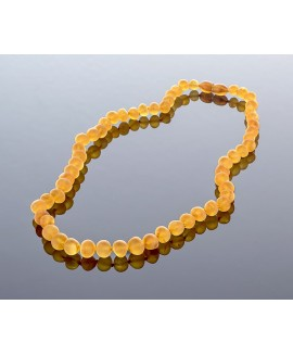 Unpolished honey amber necklace