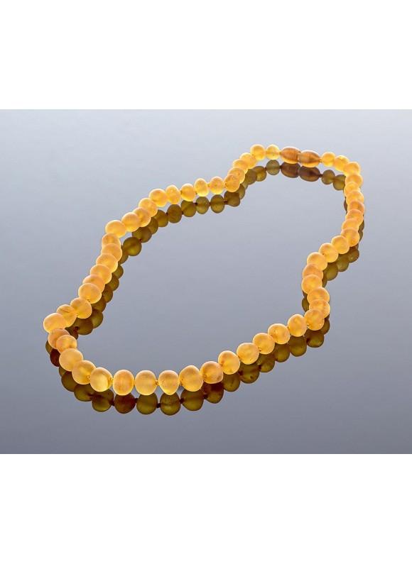 Unpolished honey amber necklace