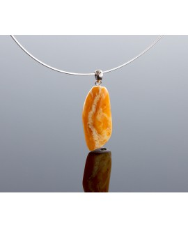 Antique, yellow-white amber pendant