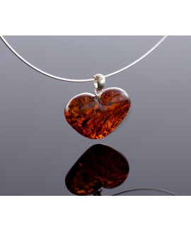 Baltic amber heart-pendant